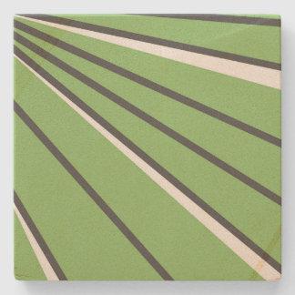 Green Streak Coaster by John Oven