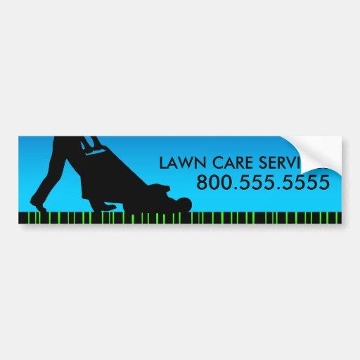 green streak lawn care services bumper sticker