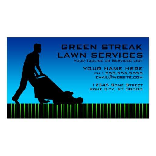green streak lawn services Double Sided standard business