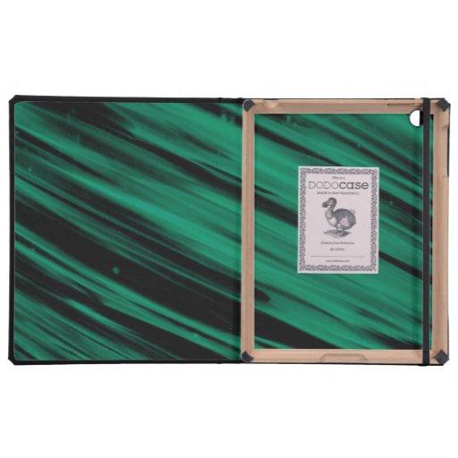 Green Streaks iPad Cover