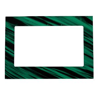 Green Streaks Magnetic Photo Frames