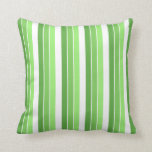 Green strip Zierkissen Throw Pillows