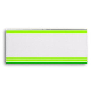 Green Stripe #10 Envelope