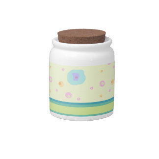 Green Stripe and Splashes Candy Dish