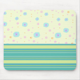 Green Stripe and Splashes Mousepad