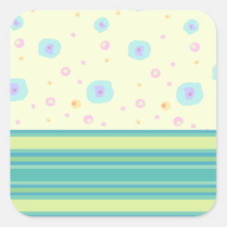 Green Stripe and Splashes Stickers