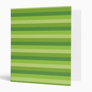 Green Stripe 3 Ring Binder