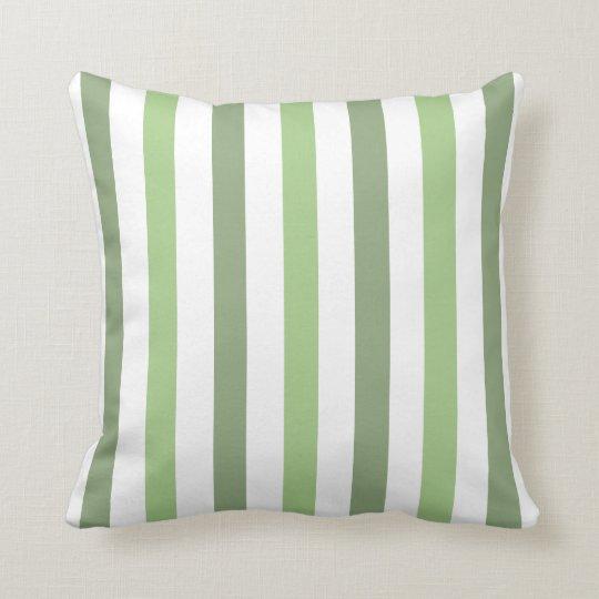 Green Stripe Front & Back Pillow