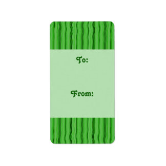 green stripe gift tag
