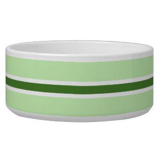 Green Stripe Large Pet Bowl