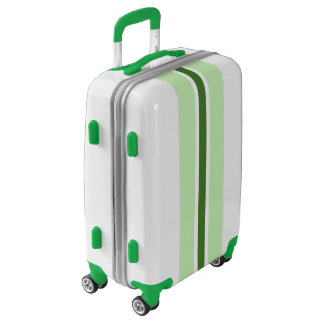 Green Stripe Luggage Suitcase