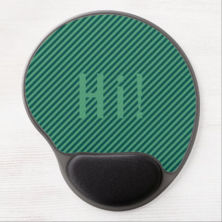 Green Stripe Patterned Customizable Mousepad