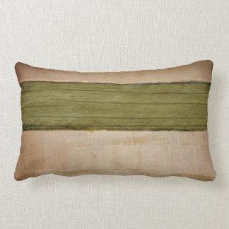 Green stripe pillow, Copyright Karen J Williams Lumbar Pillow