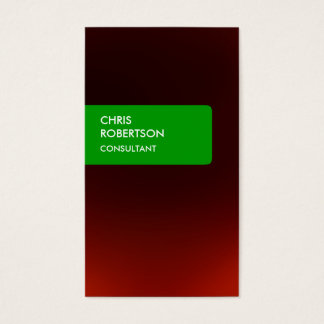 Green Stripe Red Attractive Charm Business Card