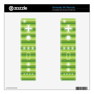 Green Stripe Wii Remote Decal