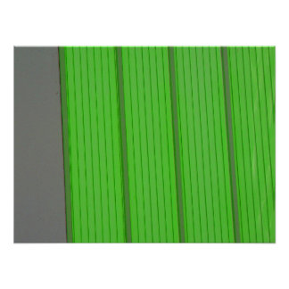 green stripe wall poster