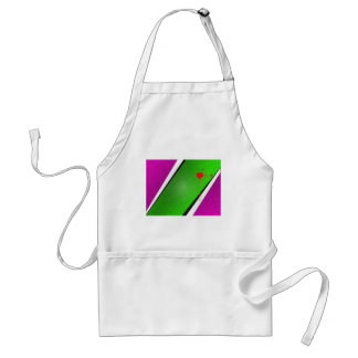 Green Stripe with splatter Adult Apron