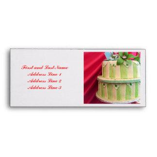 Green striped envelope