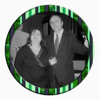 green striped frame photo cutout