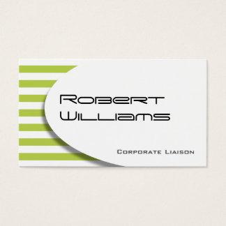 Green Striped Modern Professional Business Card