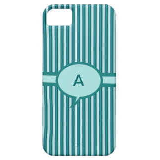 Green Striped Monogram Iphone 5 Case