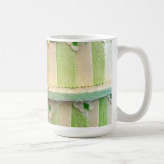 Green striped mug