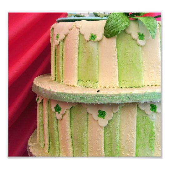 Green striped photo