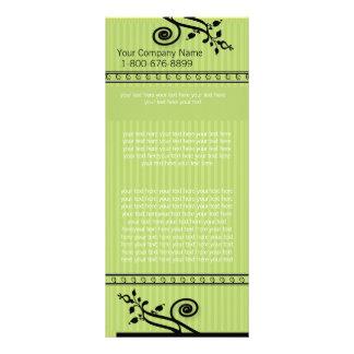 Green Striped Rack Card