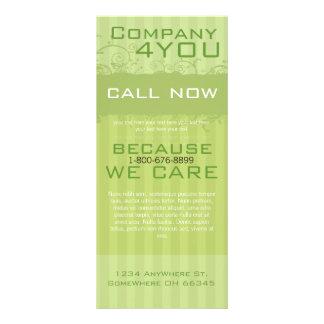 Green Striped Rack Card Swirl Label