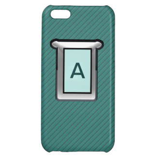 Green Striped Silver and Jade Iphone 5 Case