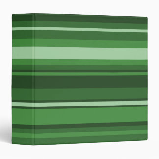 Green stripes 3 ring binder