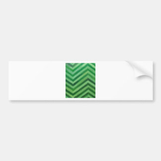 Green Stripes (abstract pattern painting) Bumper Sticker