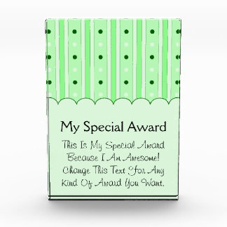 Green Stripes And Dots Pattern Awards