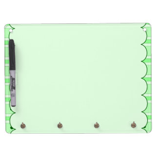 Green Stripes And Dots Pattern Dry-Erase Boards