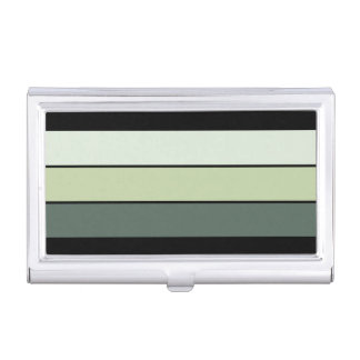 Green Stripes Business Card Case