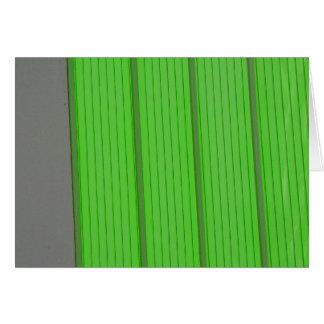 green stripes card