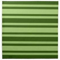 Green Stripes custom cloth napkins