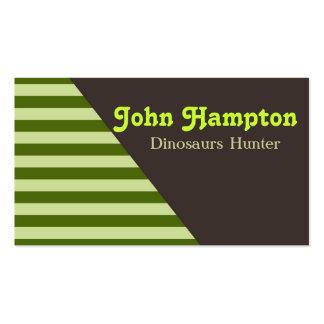 Green stripes dinosaur business card business cards