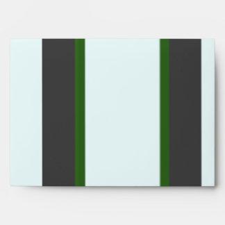 Green Stripes Envelopes