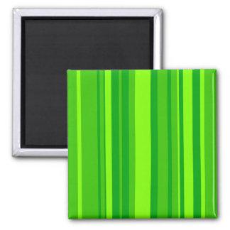 Green Stripes Fridge Magnet