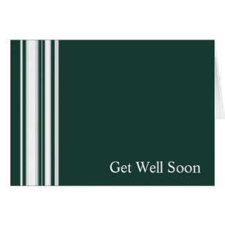 Green Stripes Get Well Card