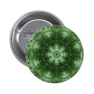 Green Stripes Kaleidoscope Art 5 Pinback Button