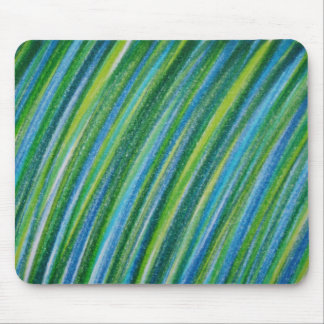 Green Stripes Mouse Pad