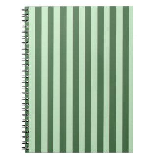 Green Stripes Spiral Note Book