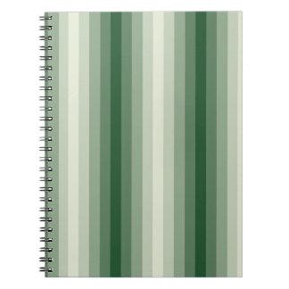Green Stripes Spiral Notebook