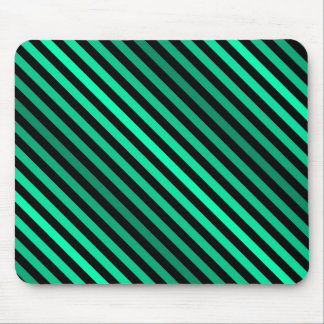 Green Stripes of Varying Shades Mouse Pad