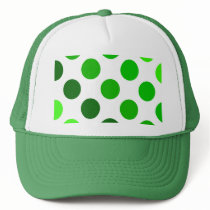 Green Stripes Polka Dot Pattern Trucker Hat