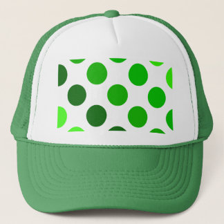 Green Stripes Polka Dot Pattern Trucker Hat