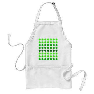 Green Stripes Polka Dots Pattern Adult Apron