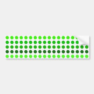 Green Stripes Polka Dots Pattern Bumper Sticker